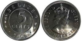 5 центов 2009 Белиз