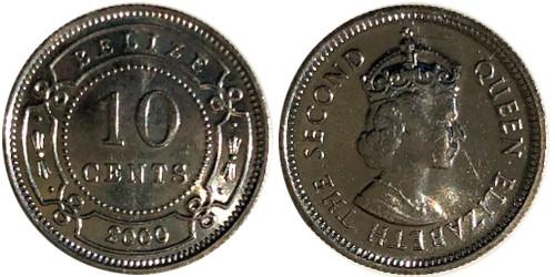 10 центов 2000 Белиз