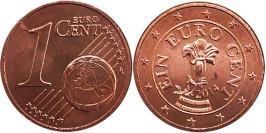1 евроцент 2014 Австрия UNC
