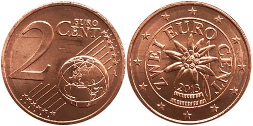 2 евроцента 2013 Австрия UNC