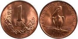 1 лек 2008 Албания UNC
