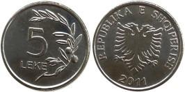 5 леков 2011 Албания UNC
