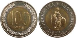 100 леков 2000 Албания UNC