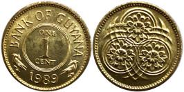 1 цент 1989 Гайана