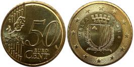 50 евроцентов 2016 Мальта UNC