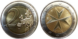 2 евро 2016 Мальта UNC