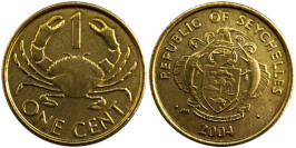 1 цент 2004 Сейшельские острова — Краб