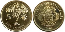 5 центов 2007 Сейшельские острова