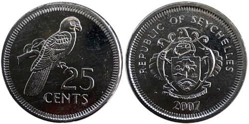 25 центов 2007 Сейшельские острова