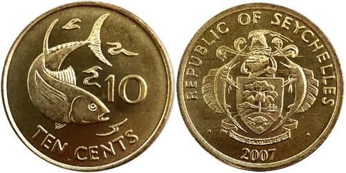 10 центов 2007 Сейшельские острова UNC