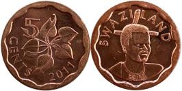 5 центов 2011 Свазиленд