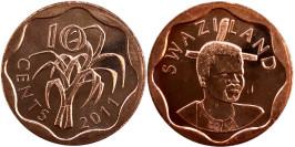 10 центов 2011 Свазиленд UNC
