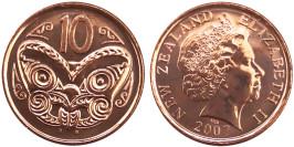 10 центов 2007 Новая Зеландия UNC