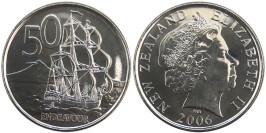 50 центов 2006 Новая Зеландия UNC
