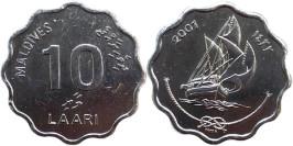 10 лари 2007 Мальдивы