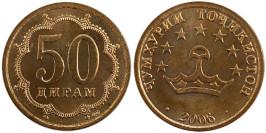 50 дирам 2006 Таджикистан — магнитная