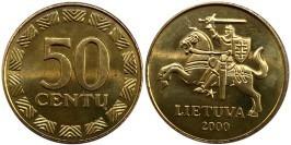 50 центов 2000 Литва UNC