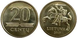 20 центов 2010 Литва UNC
