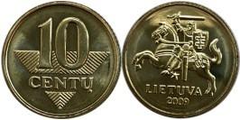 10 центов 2009 Литва UNC