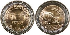 500 песо 2012 Колумбия — Лягушка UNC