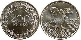 200 песо 2012 Колумбия — Красный ара UNC