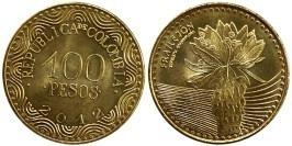 100 песо 2012 Колумбия — Цветок эспелетия UNC