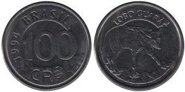 100 крузейро 1993 Бразилия UNC