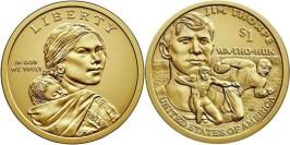 1 доллар 2018 P США UNC — Коренные Американцы -Джим Торп Уа-То-Хак