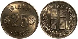 25 эйре 1967 Исландия UNC