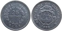 25 сентимо 1989 Коста Рика