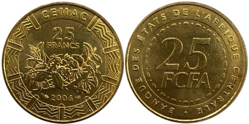25 франков 2006 Центральная Африка (BEAC) UNC