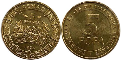 5 франков 2006 Центральная Африка (BEAC) UNC