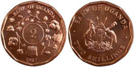 2 шиллинга 1987 Уганда