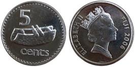 5 центов 2006 Фиджи UNC