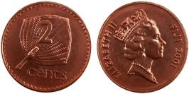 2 цента 2001 Фиджи