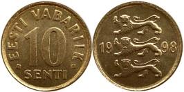 10 сентов 1998 Эстония