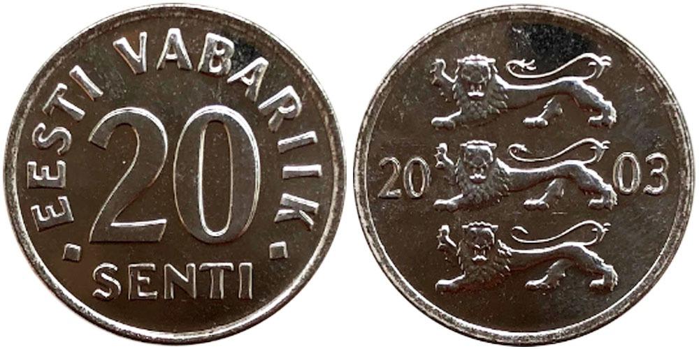 20 сентов 2003 Эстония