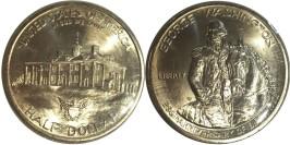 1/2 доллара 1982 D США — 250 лет со дня рождения Джорджа Вашингтона BUnc — серебро