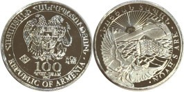 100 драмов 2017 Армения BUnc — Ноев ковчег — серебро