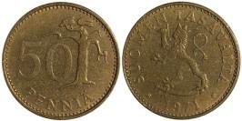 50 пенни 1977 Финляндия