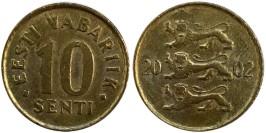 10 сентов 2002 Эстония