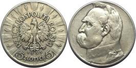 5 злотых 1935 Польша — серебро — Юзеф Пилсудский №2