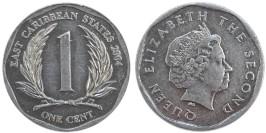 1 цент 2004 Восточные Карибы