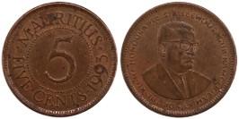 5 центов 1993 Маврикий