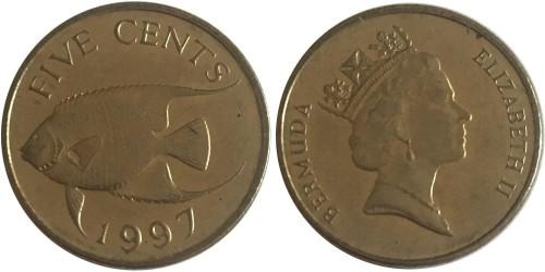 5 центов 1997 Бермуды