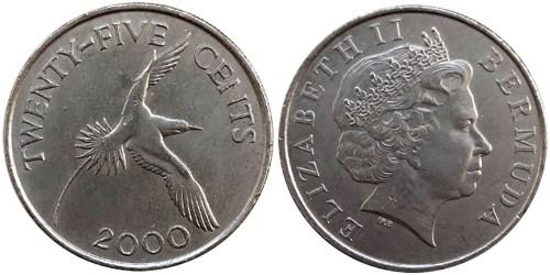 25 центов 2000 Бермуды