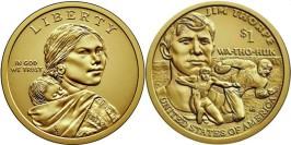1 доллар 2018 D США UNC — Коренные Американцы -Джим Торп Уа-То-Хак