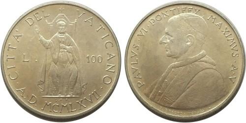 100 лир 1967 Ватикан