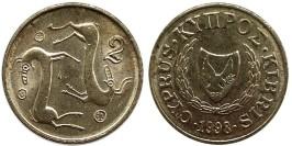 2 цента 1998 Республика Кипр