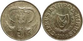 5 центов 2004 Республика Кипр